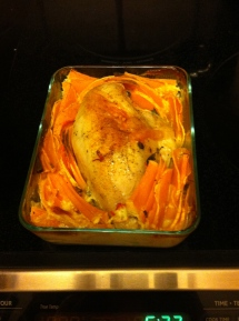 Roast Chicken Breast with creamy butternut squash and chilli