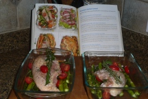 Getting started...Roasted Chicken Breast with cherry tomatoes and asparagus