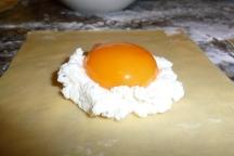 Prepping Oozy Egg Ravioli