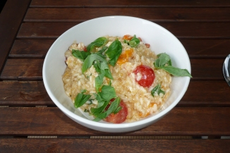 Tomato, basil and ricotta risotto