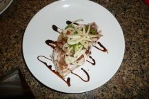 Pacific Perch with balsamic glaze and fennel salad